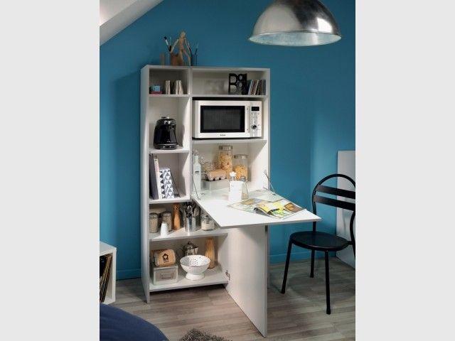 Meubler un studio  10 meubles malins pour gagner de la place - Conforama Meuble De Cuisine