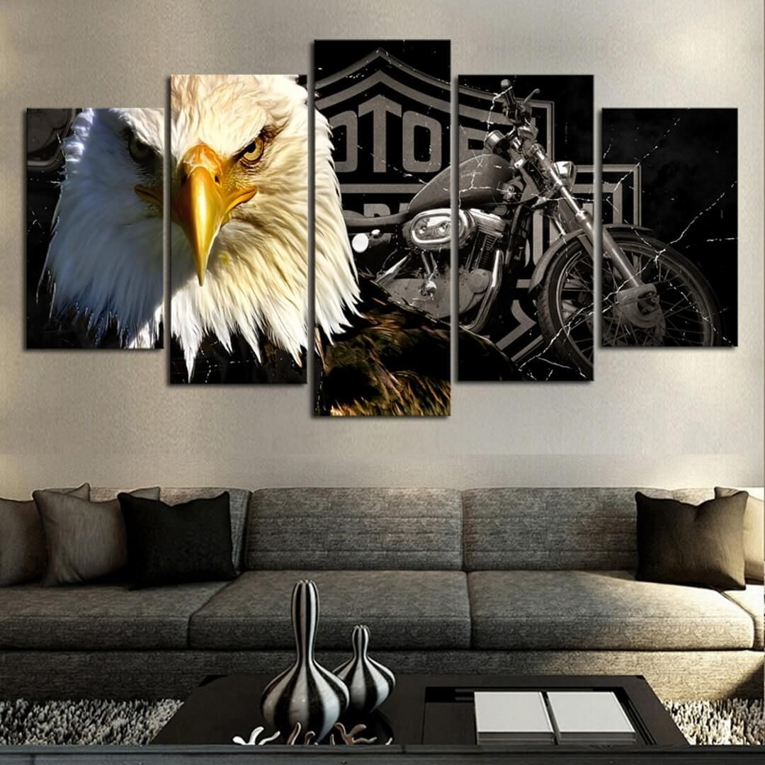Room · Canvas ArtPainting CanvasCanvas PrintsEagle PaintingHarley Davidson  MotorcyclesRoom DecorWall ...