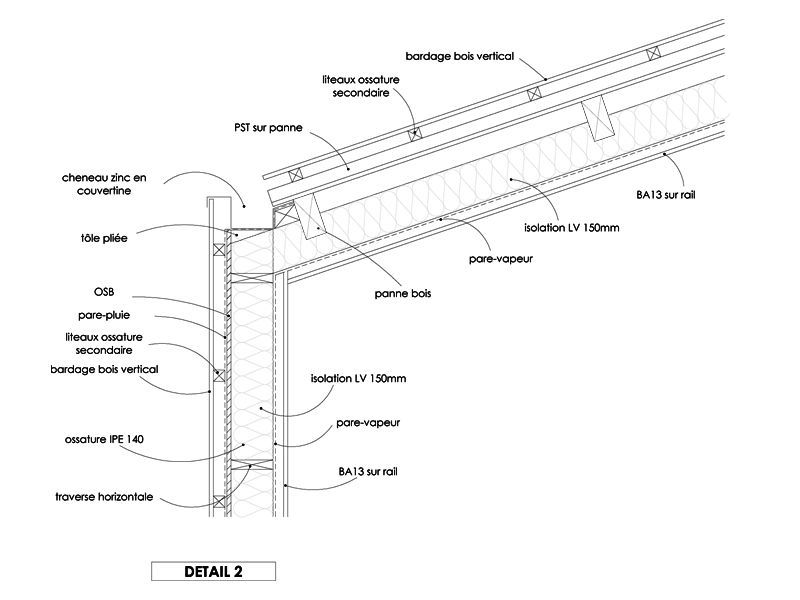 r sultat de recherche d 39 images pour toiture bardage bois d tail bardage pinterest. Black Bedroom Furniture Sets. Home Design Ideas