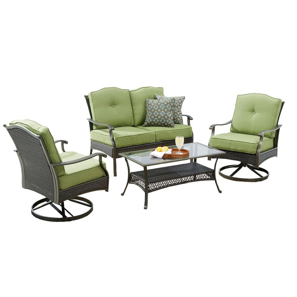 Bellmere 4 Piece Cushioned Patio Seating Set Patio Seating Sets