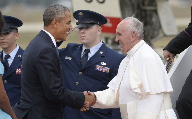 Pin for Later: Pope Francis Speaks at the White House Alongside President Obama