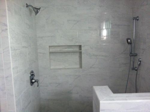 Carrara Porcelain Tile Bathroom