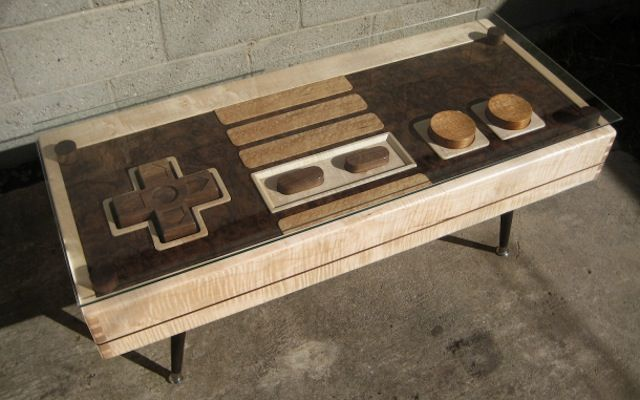 NES Controller Coffee Table Actually Works as an NES Controller for $3,500... Nice but not the price.