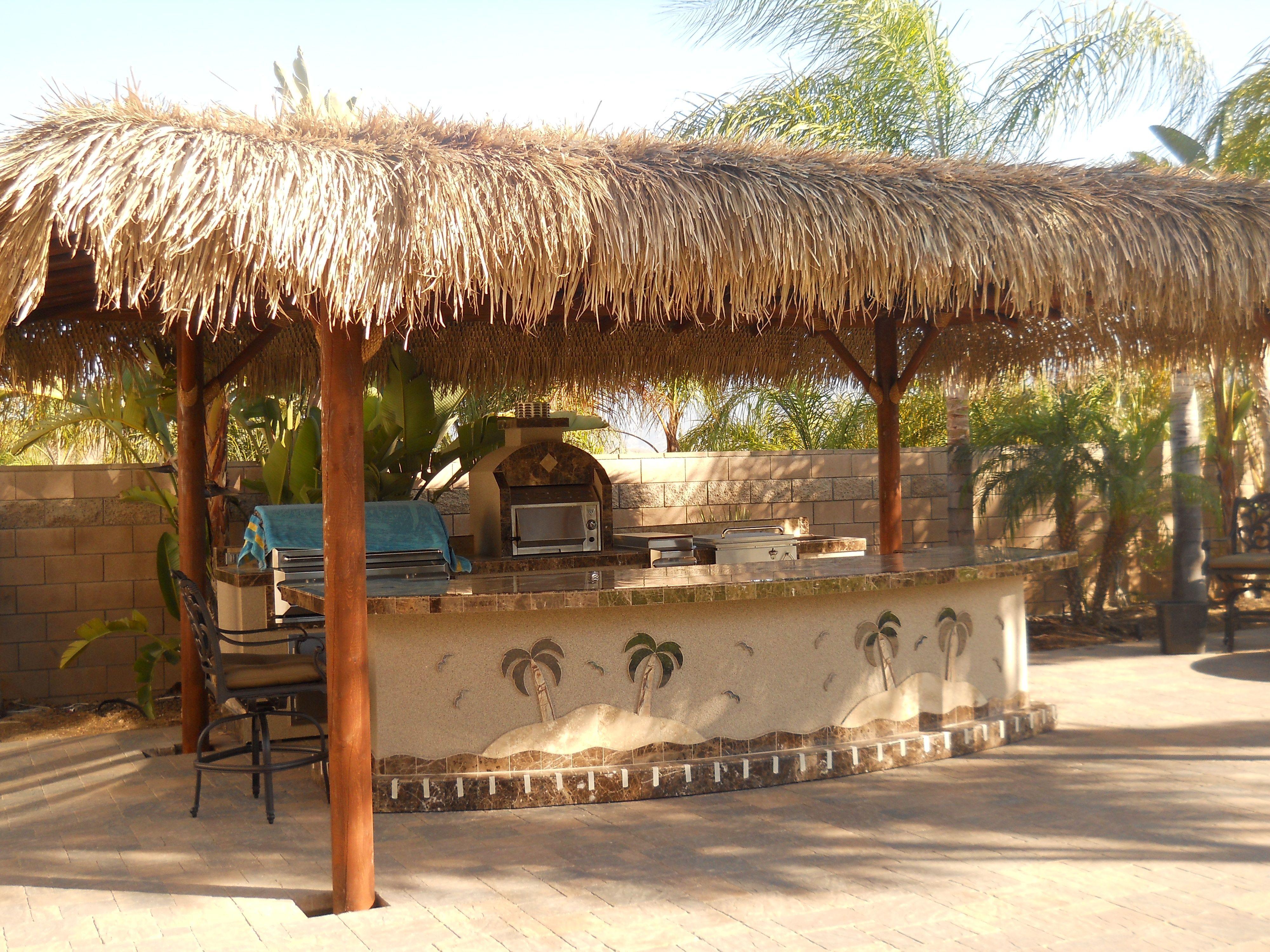 Huge Bbq Islands With Custom Palm Trees Kick Step Grills