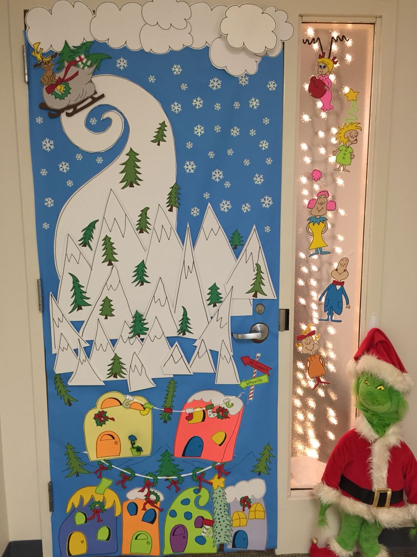 holiday office door decorations the grinch christmas hallway office christmas decorations christmas 2017 - Pinterest Christmas Door Decorations