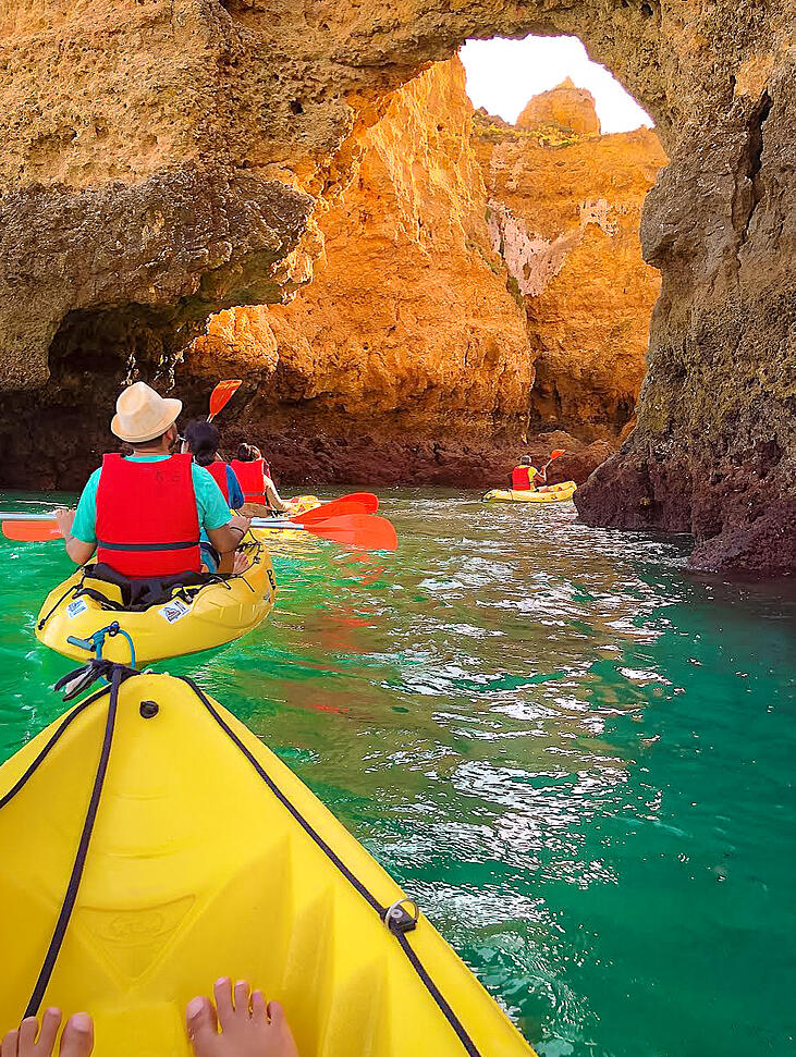 Kayaking In Lagos Portugal Muslim Travel Guide In 2020 Best Beaches To Visit Most Beautiful Beaches Beaches In The World