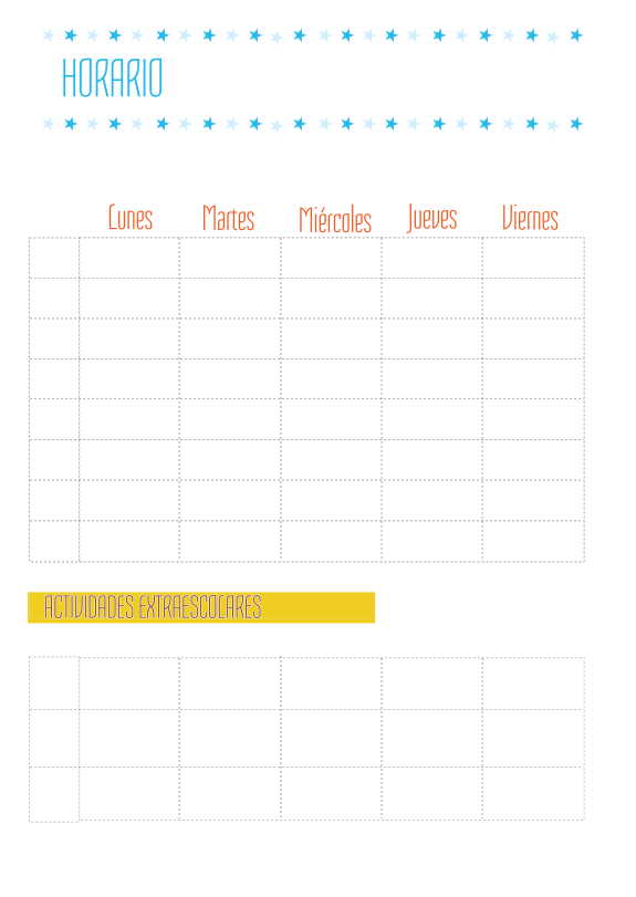 Plantilla De Horario Semanal Manualidades Horarios Para Imprimir Horario Semanal Plantilla De Calendario Para Imprimir