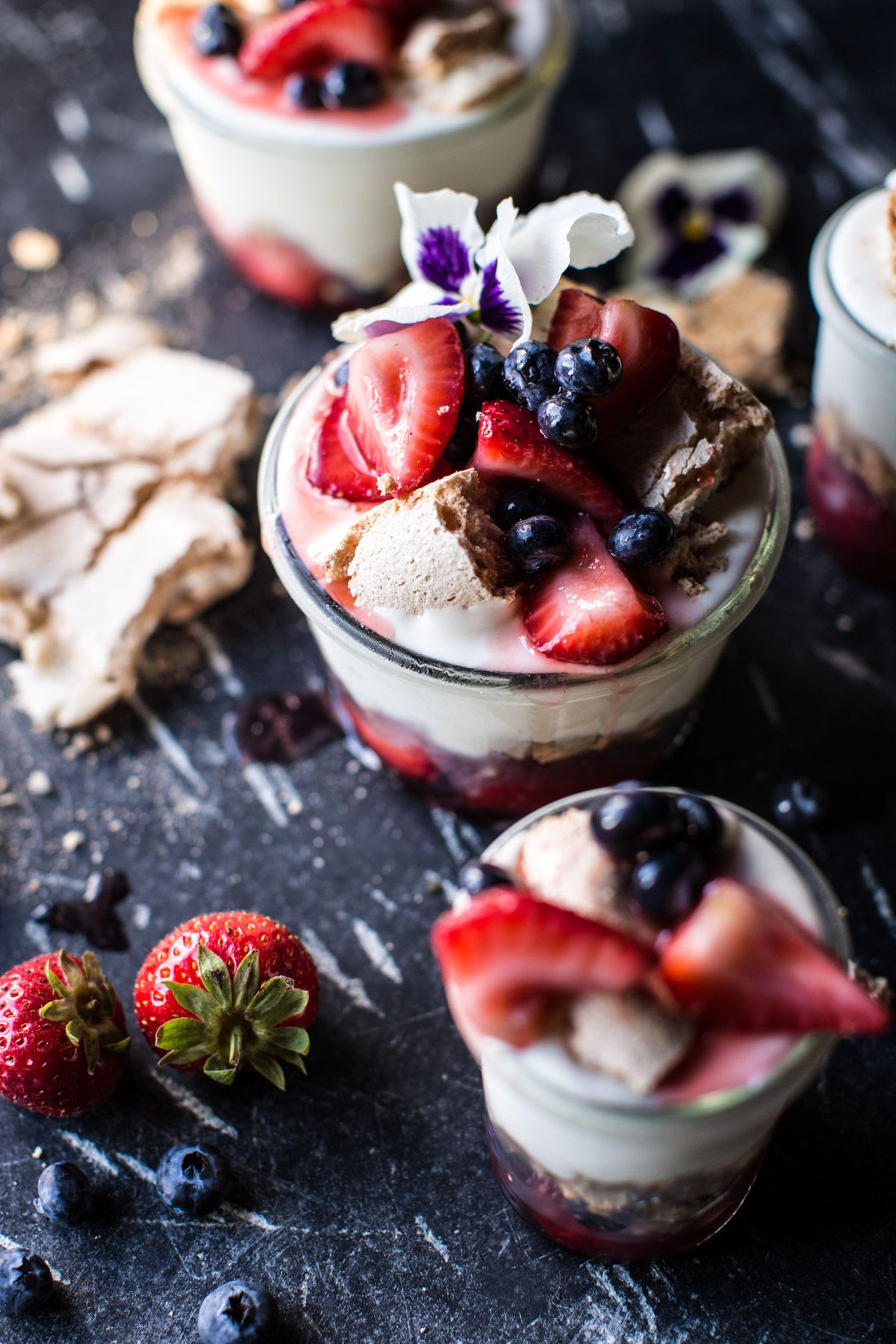Photo of Very Berry Cheesecake Ice Cream Pavlova Jars. – Half Baked Harvest