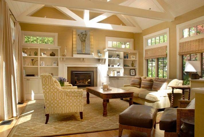 Amazing Great Room Addition Ideas Part - 3: Craftsman Style Interior Trim Details | Room Addition Pictures And Ideas -  Craftsman Vaulted Ceiling