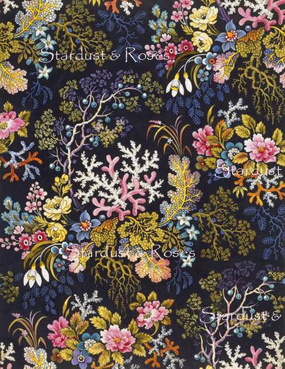 graphic about Printable Textiles known as Electronic Obtain Floral Artwork Printable Paper Quick