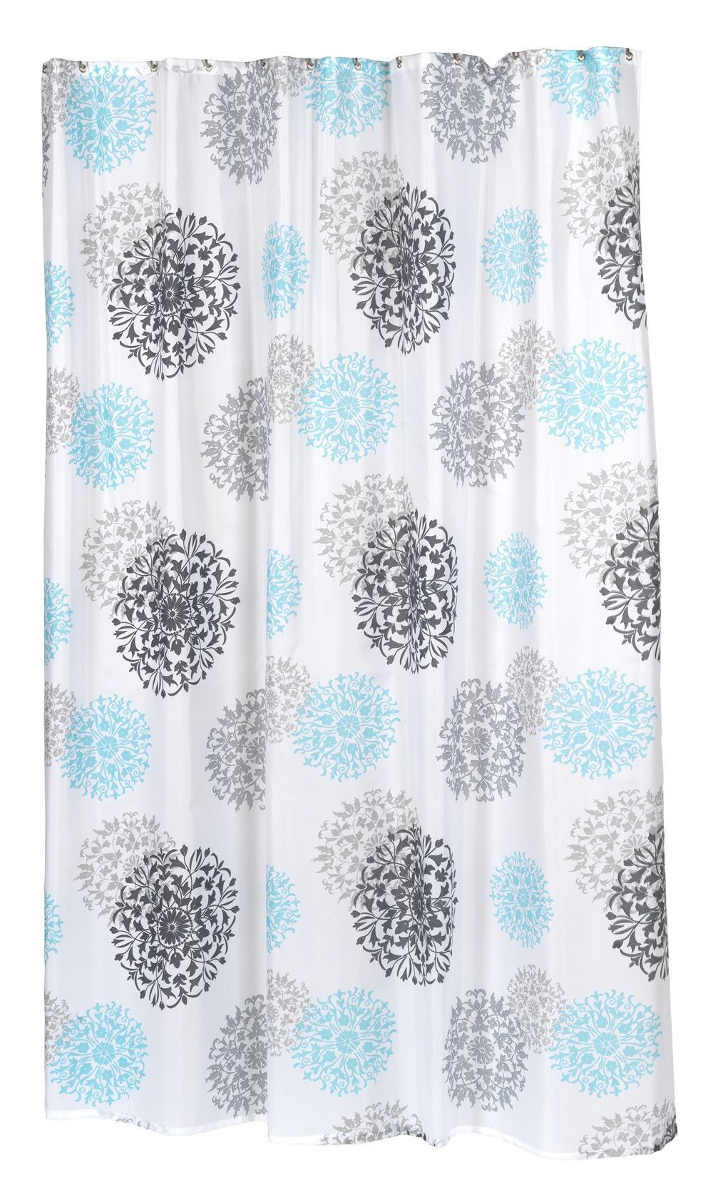 Our Extra Long Isabella Fabric Shower Curtain Features A Lively Floral Pattern Which Is