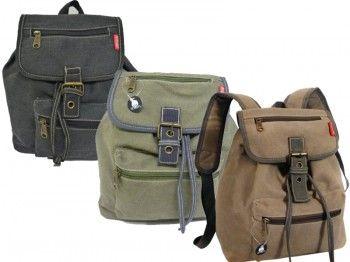 Sportlicher Canvas Rucksack STEFANO. Nur B2B Verkauf. #Handtaschen #Bags #Mode #STEFANO