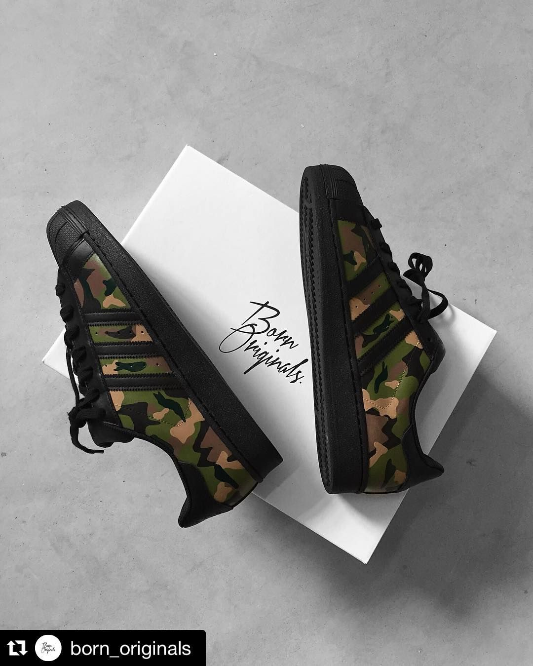 Black and Camo Shell Toes | Adidas