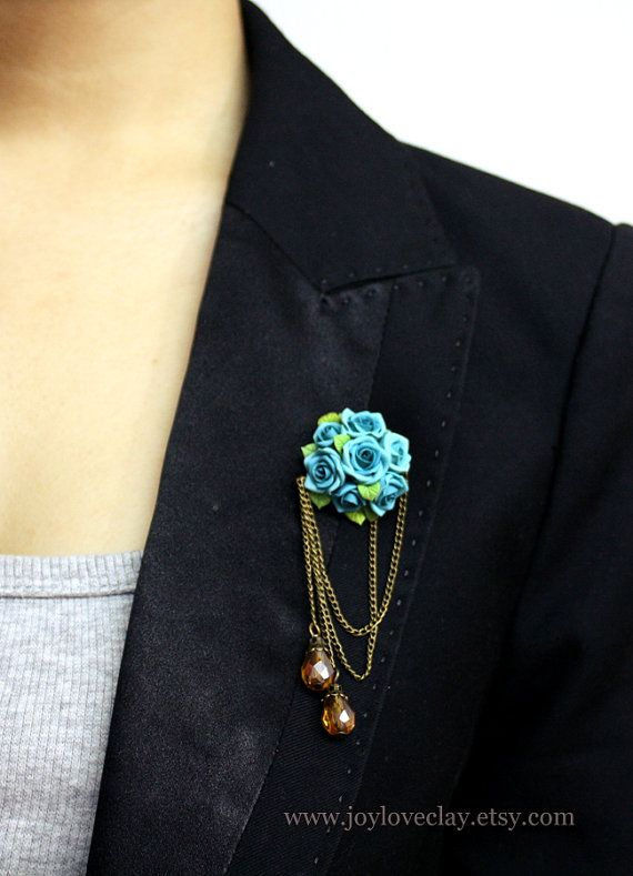 handmade rose brooch handmade rose antique jewelry por Joyloveclay