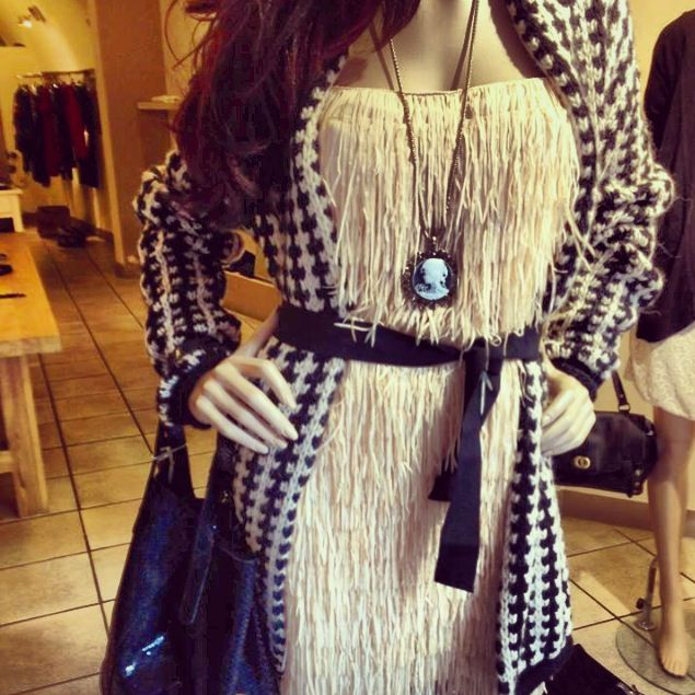 Collection FW 2013 - Vestito avana..Cardigan lana @SoAllure