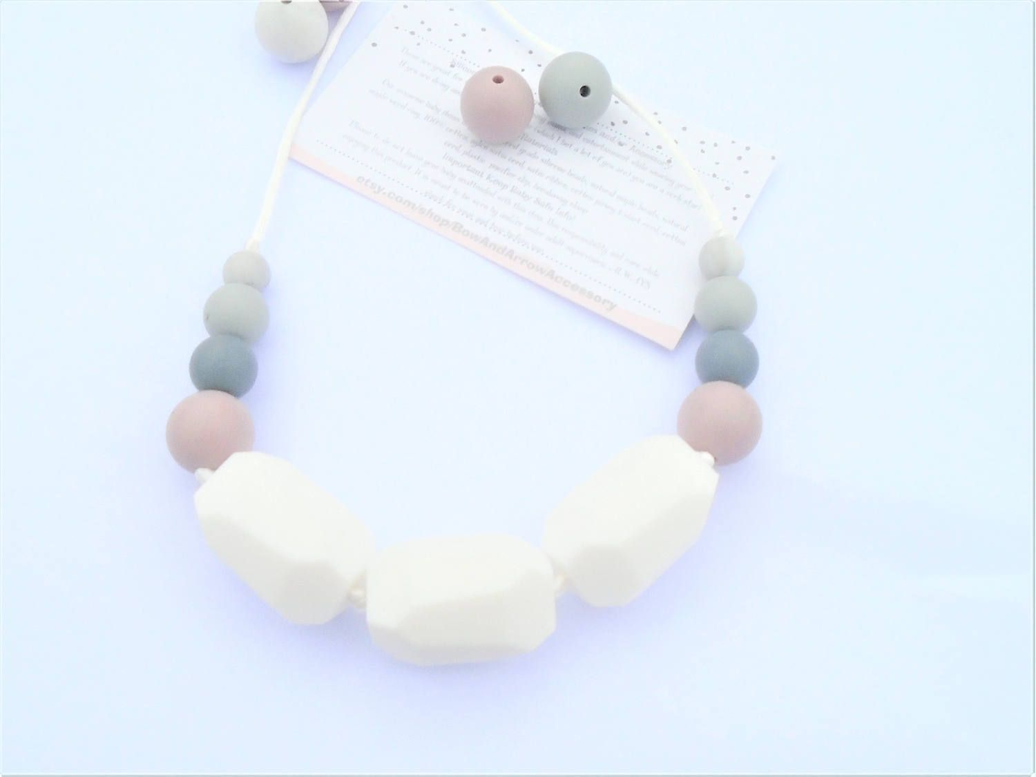Silicone Teething Necklace/ Nursing Mama Rocks accessories are: great for teething babies, nursing m