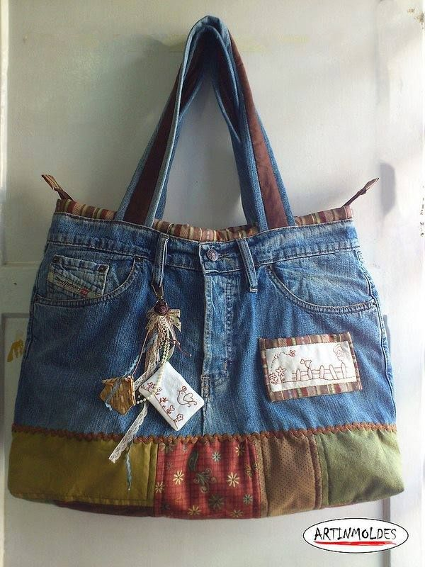 Pin von sue johnson auf Denim purses | Pinterest | Jeans tasche ...