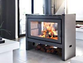 Salamandra central doble frente random pinterest - Chimeneas grandes dimensiones ...