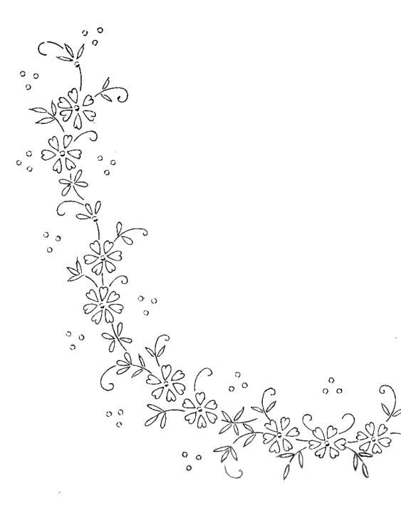 flower border hand embroidery pattern embroidery