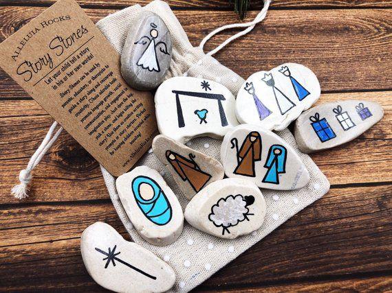 Nativity Story Stones Christmas Story Stones With Bright