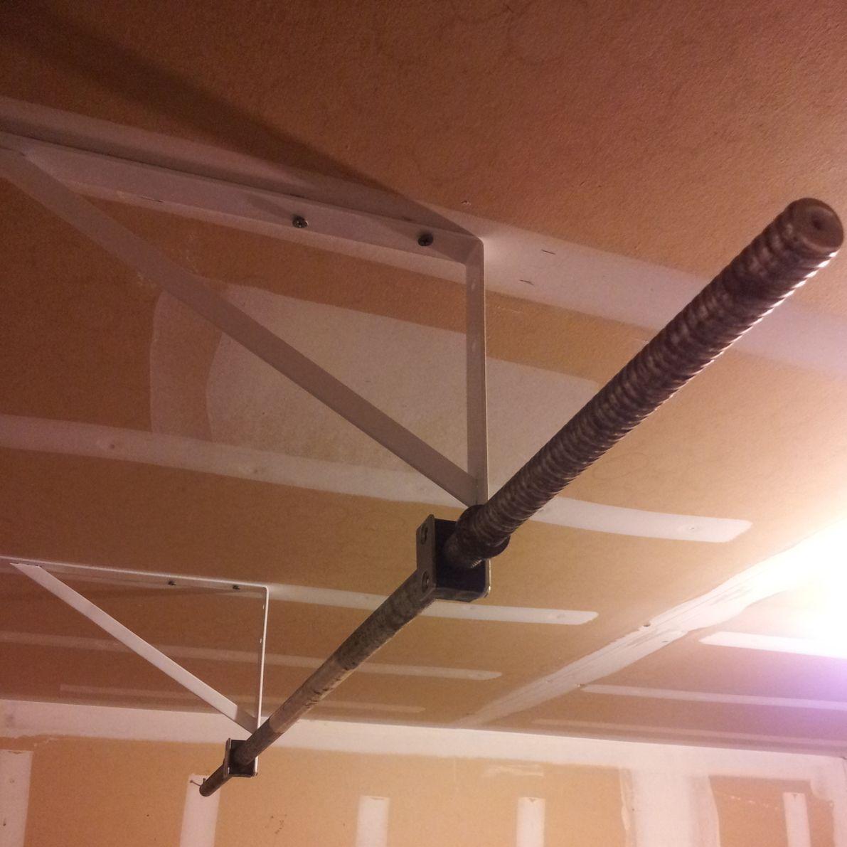 diy stud-mounted pull-up bar | home/street workout | pinterest