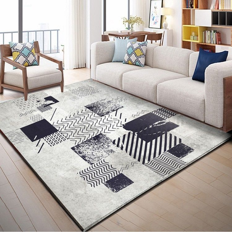 Colorful Contemporary Abstract Art Rug Collection Nestfriend