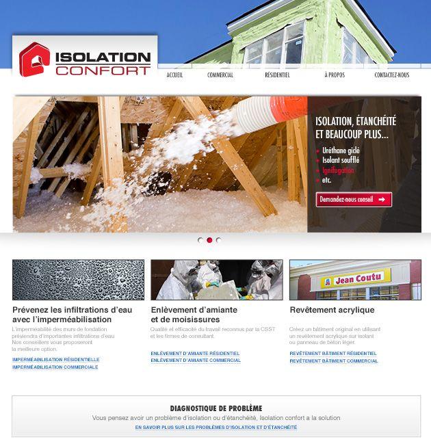 Création et conception du site web d'Isolation Confort