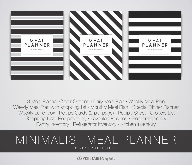 Meal Planning Kit, Menu Planning Kit, Meal Planner, Menu Planner ...