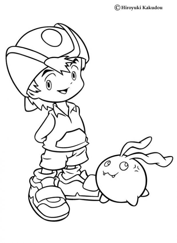 TK and Tokomon coloring page. More Digimon coloring sheets on ...