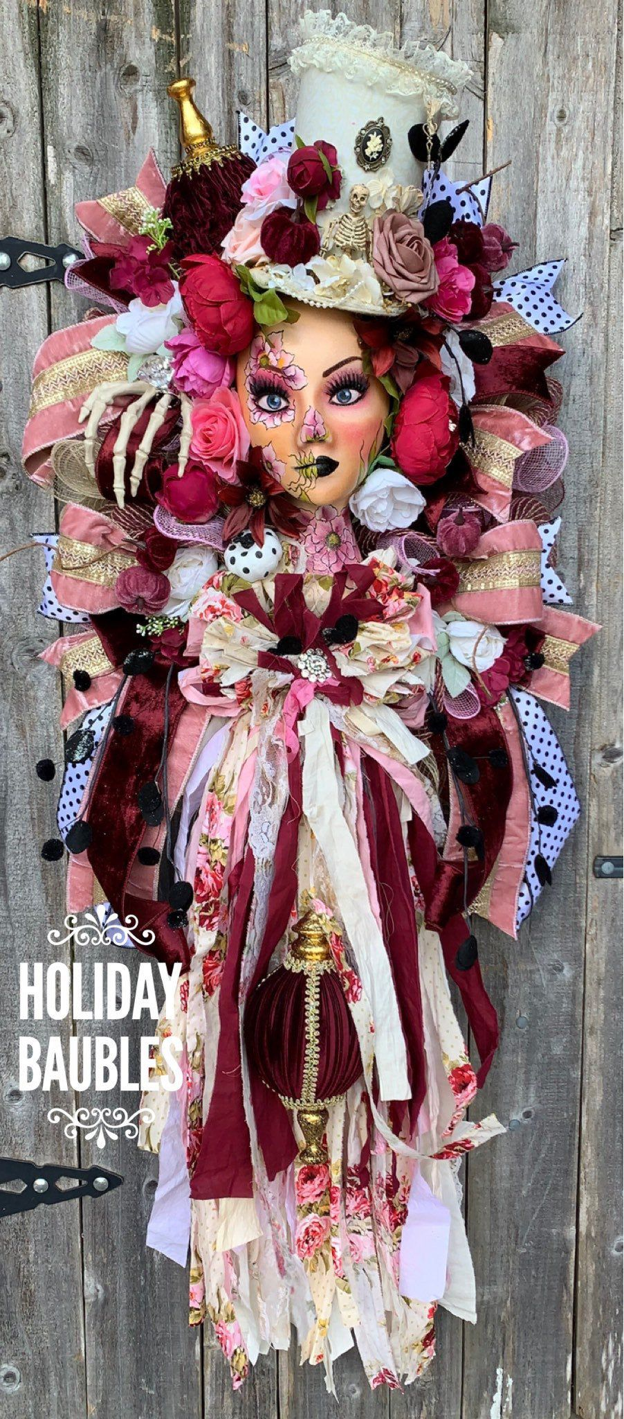 Halloween 2020 Majestic Halloween Wreath Victorian Halloween Wreath Halloween | Etsy in