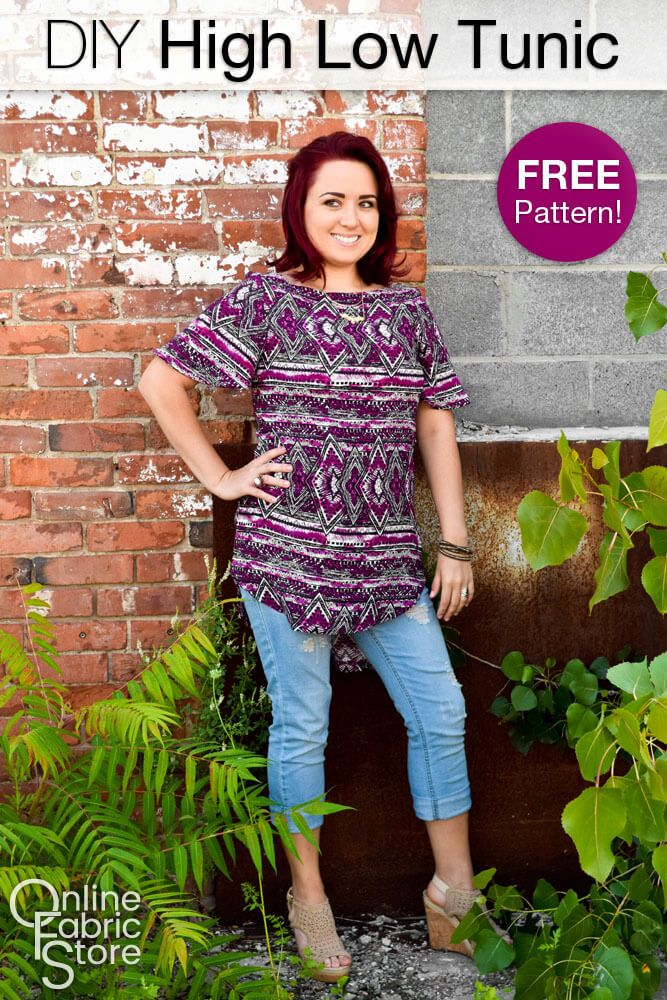 How To Make a High Low Tunic | Sew n\' Sew | Pinterest | Costura