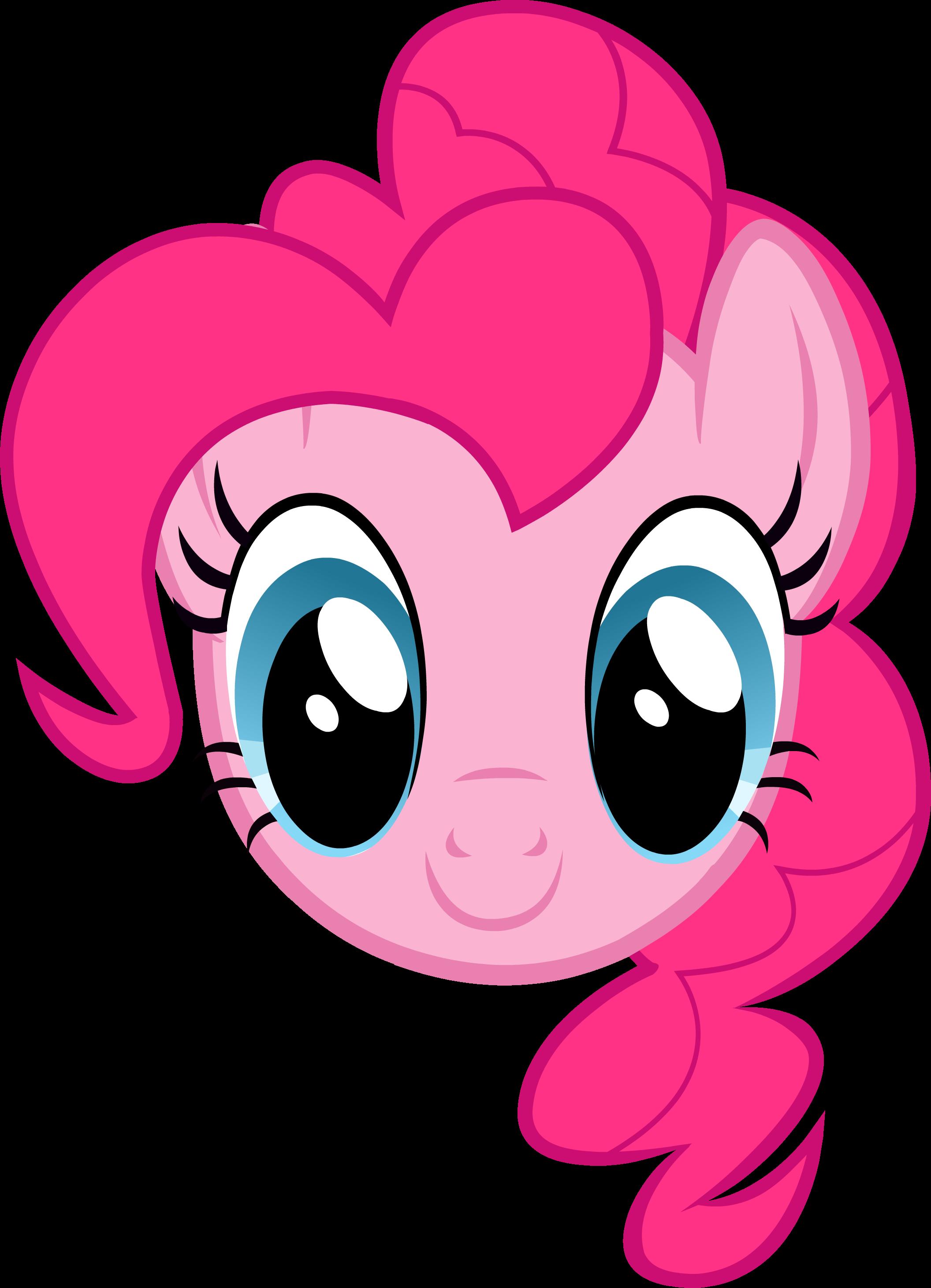 MLP - Pinkie Pie Headshot   Headshots of My Little Pony ...   2112 x 2922 png 347kB