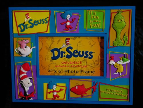 Dr Seuss Picture Frame Universal Islands Of Adventure Cat Thing 1 2