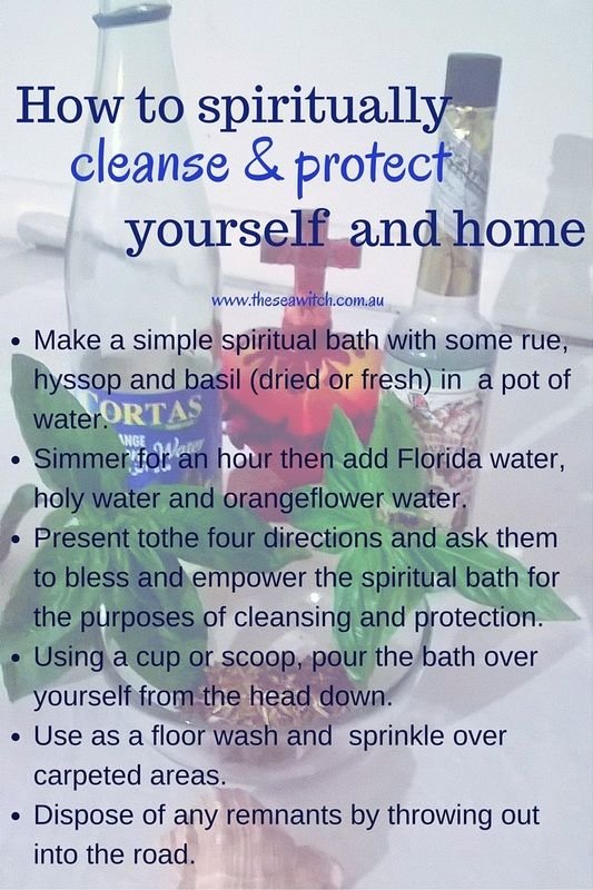 Here is my recipe for a spiritual bath and wash to protect yourself