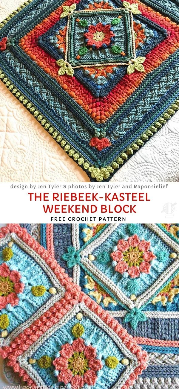 The Riebeek-Kasteel Weekend Block Free Crochet Pattern – grannis
