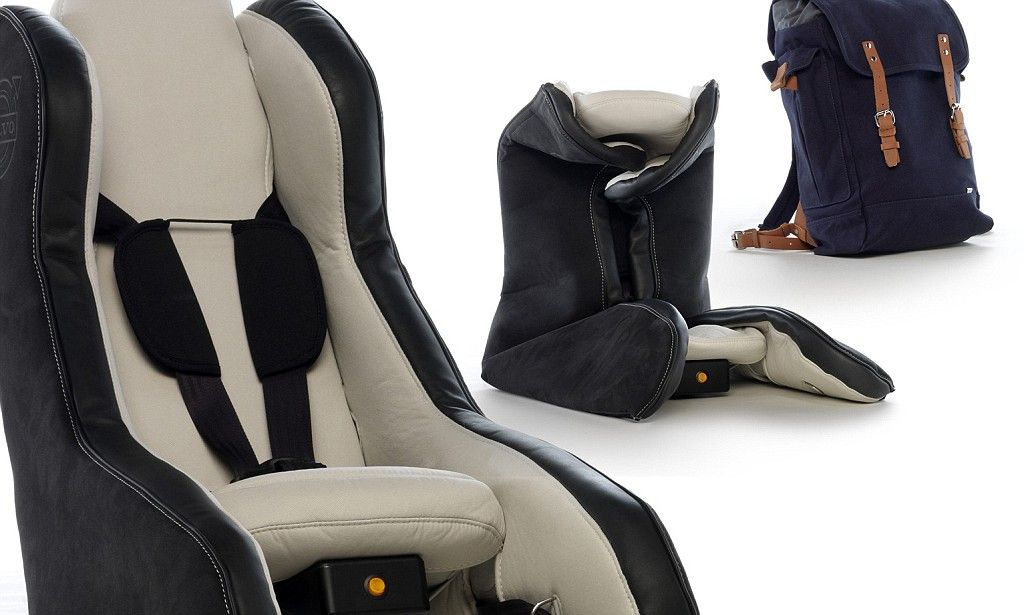 From A Backpack To Car Seat In 40 Seconds Volvo S Inflatable Design Dailymail