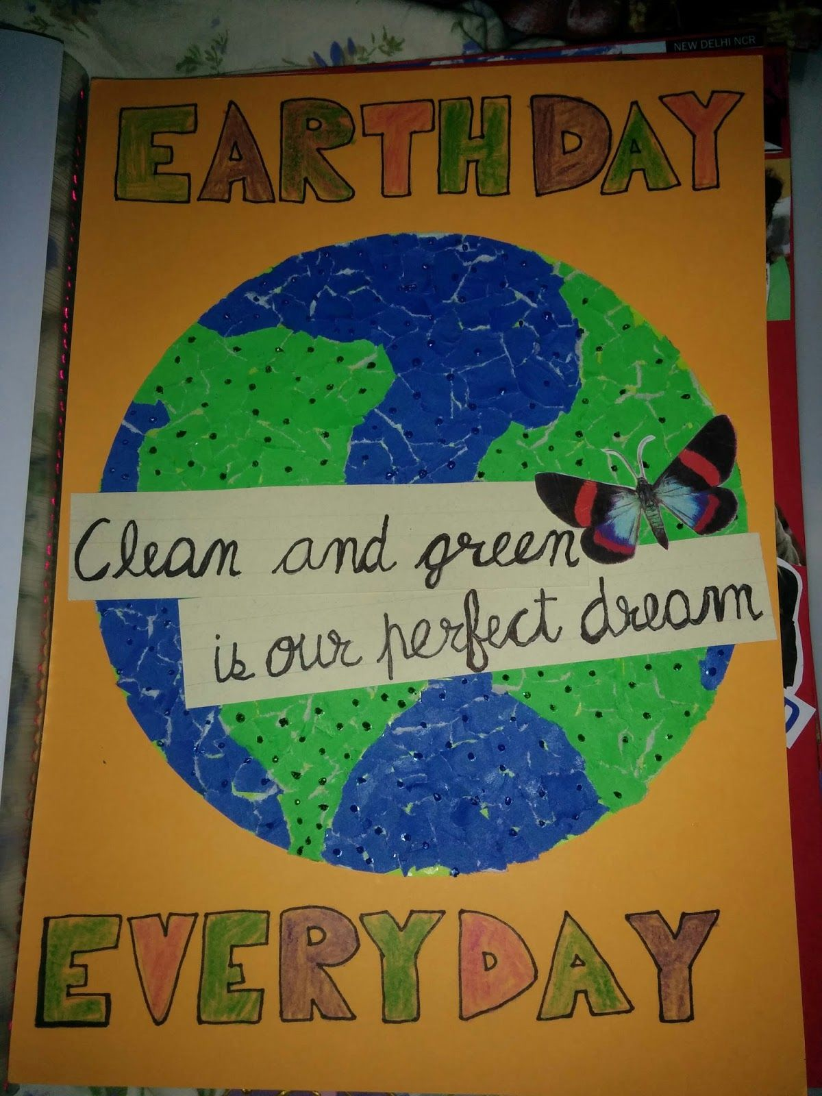 Earth day poster with a slogan earth day posters earth
