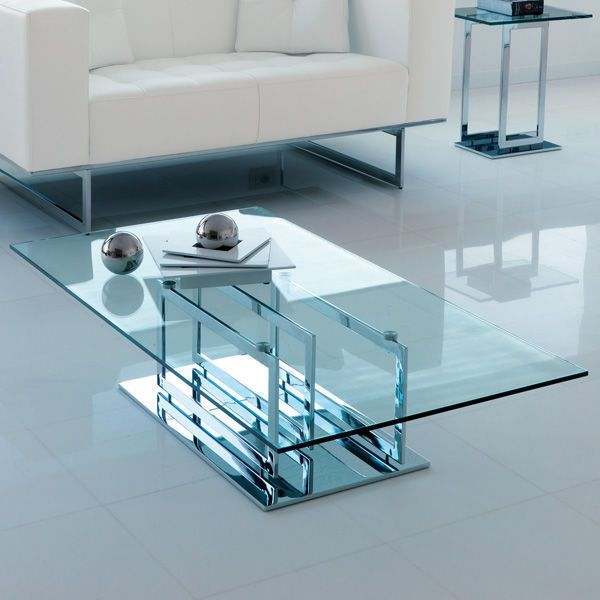 Excelsior Table Basse Rectangulaire Metal Chrome Italy Dream Design Decofinder Living Room Table Coffee Table Luxury Home Furniture