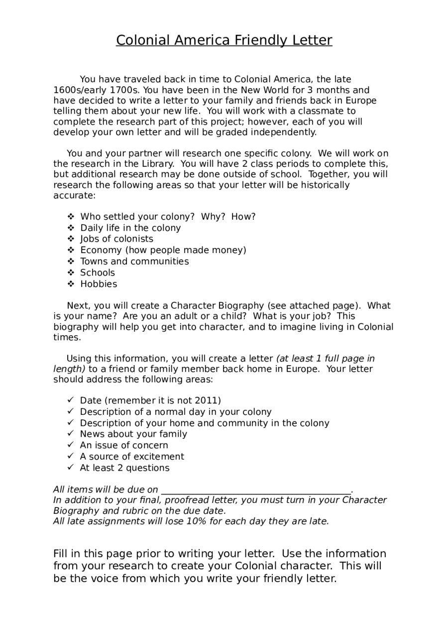Friendly Letter Template Pdf Interesting 2019 Friendly Letter