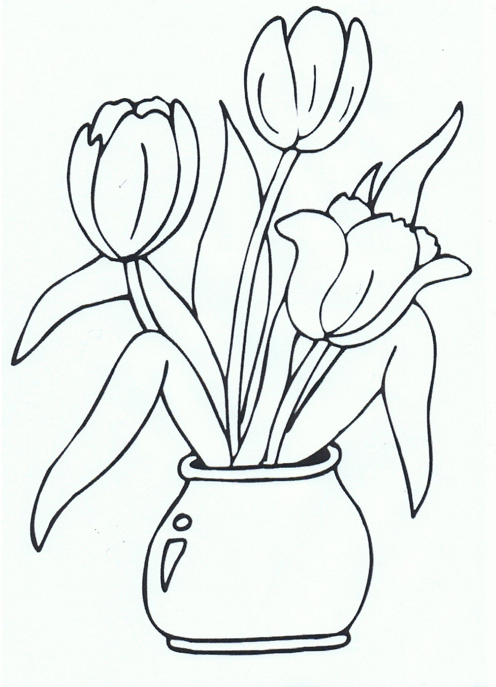 Pin By Miss Doelman On Lente Bloemen Logo 3000 10 Tulip Drawing Flower Coloring Pages Coloring Pages