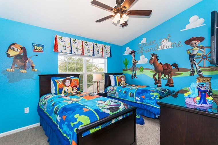 Toys Are At Play In This Fun Toy Story Themed Bedroom Disney Themed Bedrooms Disney Bedrooms