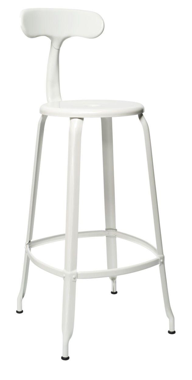 En Pour Haute Brillant H75 Blanc Chaise Nicolle® Métal CmIdéale EDHIW29Y