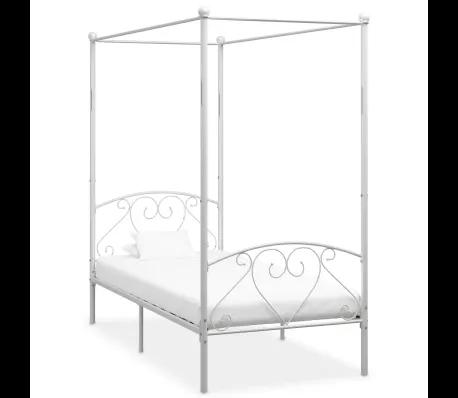 Vidaxl Himmelbett Gestell Weiss Metall 100 X 200 Cm In 2020 Himmelbett Bett Bettgestell