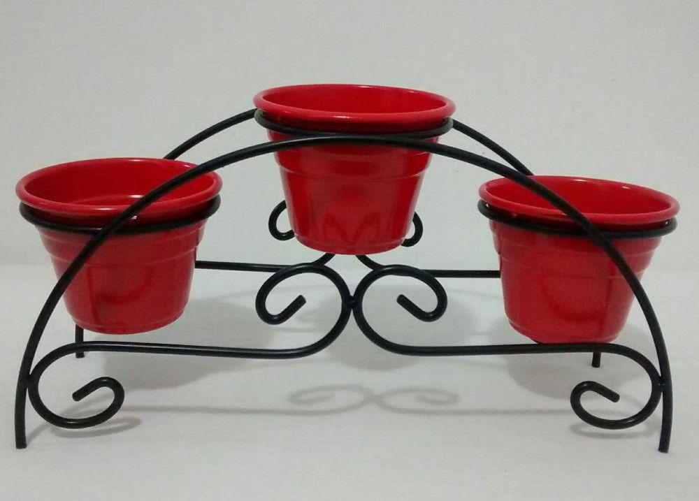 Mini Floreira de 3 vasos