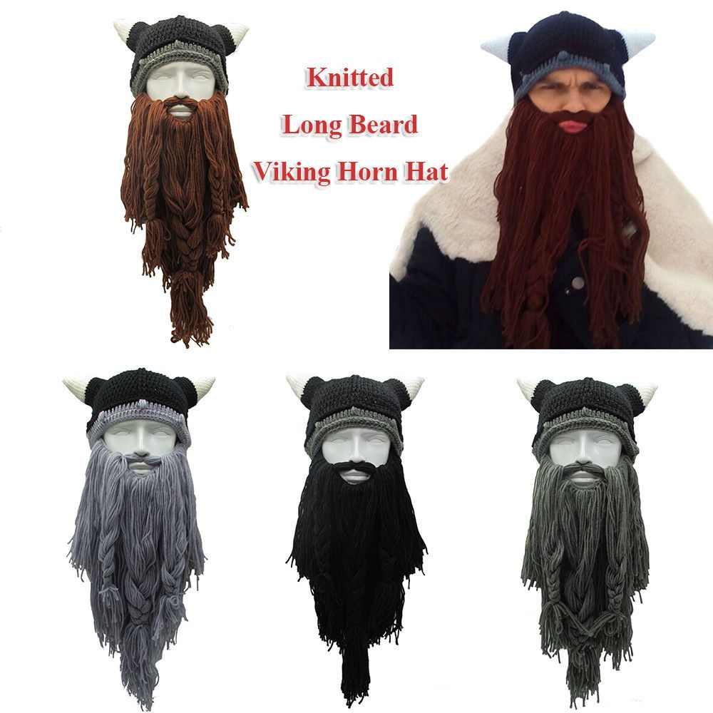 36bc9a56d21 Knitted Winter Warm Funny Mask Viking Horn Hat Crazy Ski Cap Beanie Long  Beard  fashion  clothing  shoes  accessories  mensaccessories  hats (ebay  link)