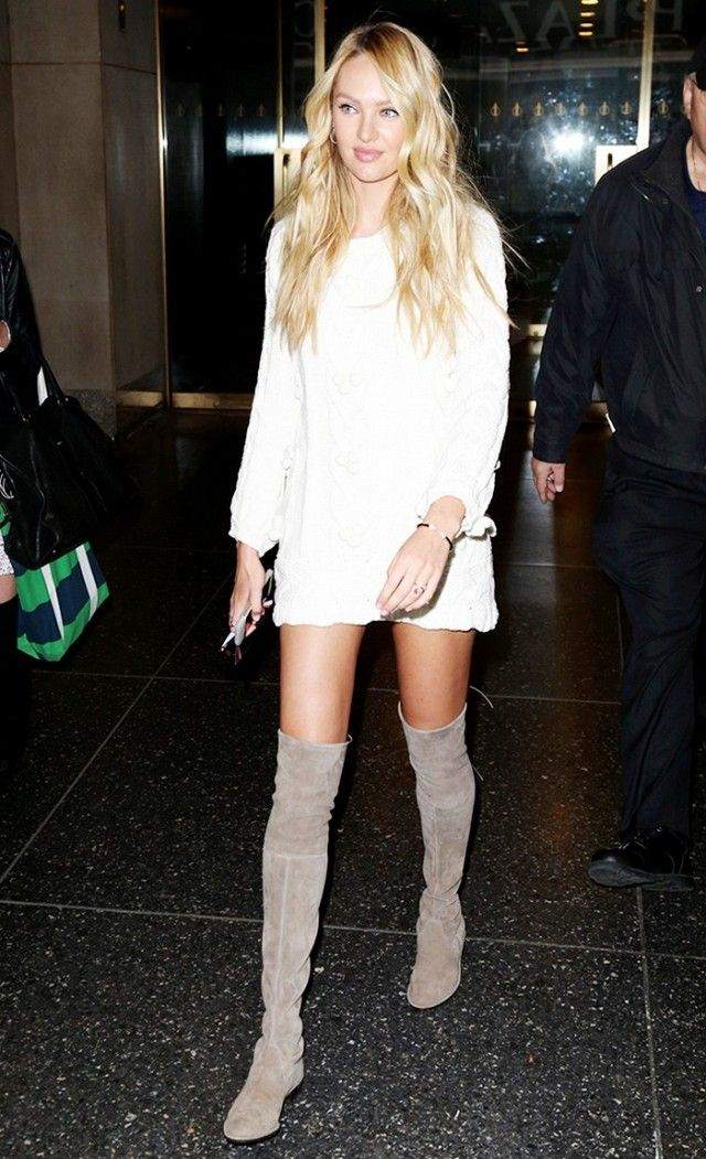 You\'ll Wear Candice Swanepoel\'s Over-the-Knee Boots All Winter ...