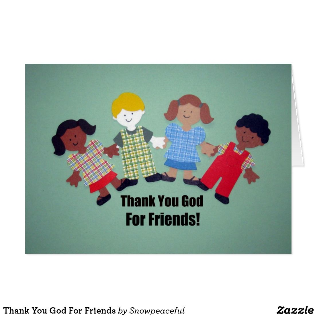 Thank You God For Friends Custom Thanksgiving Greetings Cards