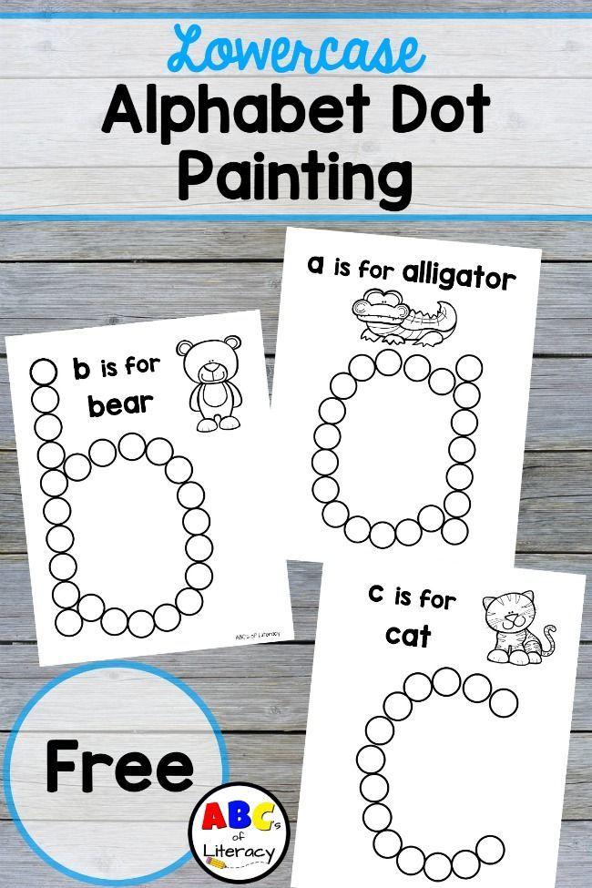 lowercase alphabet dot painting free printables epic preschool ideas preschool learning. Black Bedroom Furniture Sets. Home Design Ideas