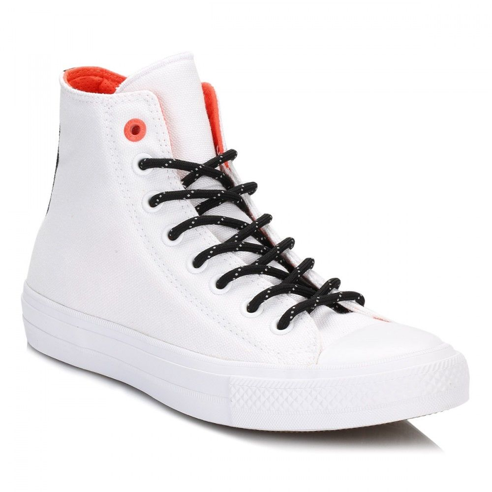 Converse All Star Chuck Taylor II White/Lava Hi Top Trainers 153534C |  TOWER…