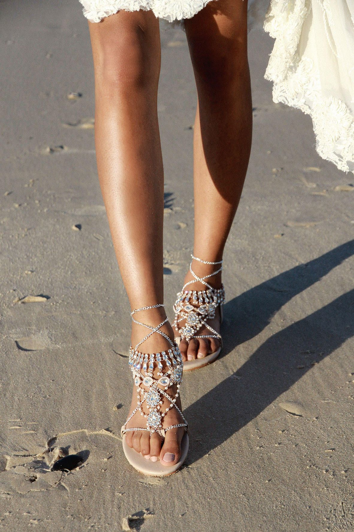 2035c54bf8d Nude Flat Sandals Gladiator Sandals Nude leather sandal ...